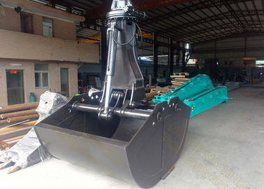 China Kobelco SK380 Excavator Grab Attachment 3.0 Cum Bucket Capacity Worm Rotating supplier
