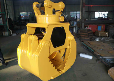 China 3/4 Inch BSP Excavator Rotating Grapple Lower Rotate Speed Easy Operation Internal Linkage supplier