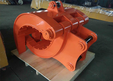 Mechanical Excavator Rotating Grapple , Excavator Rock Grapple High Performance