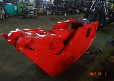 China 1960KN Mini Excavator Attachments , Excavator Crusher Attachment Red Color High Power supplier