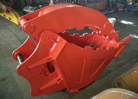 Single Cylinder Excavator Bucket Grab , Excavator Rock Bucket For Doosan DX225 Excavator