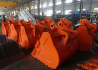 V Shaped Kubota Excavator Bucket Ditch Cleaning Durable With Side Protective Plate