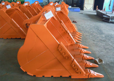 China High Abrasion Excavator Rock Bucket , Excavator Screening Bucket Excellent Bending Ability factory