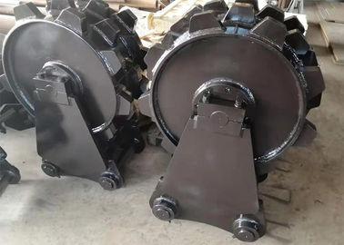 China Skid Steer Trench Compactor Wheel , Cat Excavator Attachments Wheel distributor