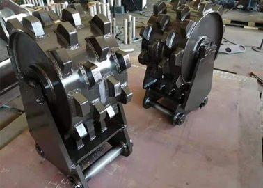 China Durable Compaction Wheel Excavator Attachment / Steel Wheel Compactor distributor